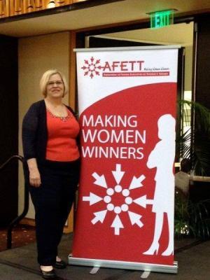 Carolyn goes international. AFETT in Trinidad & Tobago.