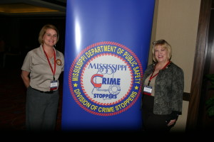 Carolyn with Trish Harbour, Exec. Dir. of MS Dept of Public Safety Crime Stoppers Division