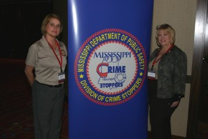 Carolyn with Trish Harbour, Exec Director of Mississippi Public Dept of Safety Crime Stoppers Division