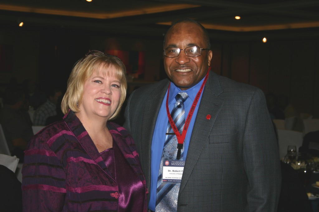 Carolyn & Dr. Fox, President of Univ MS