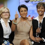 "Always a ""thumbs up"" for this courageous broadcaster, and well on her way to being a survivor X2! Godspeed, Robin."